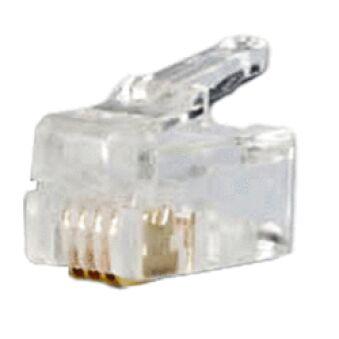 Sachet de 10 connecteurs RJ9 4/4 pour Câble rond