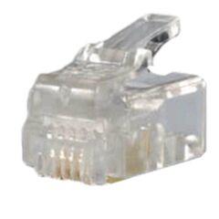 Sachet de 10 connecteurs RJ11 6/4 pour Câble rond