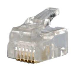 Sachet de 10 connecteurs RJ11 6/6 pour Câble rond