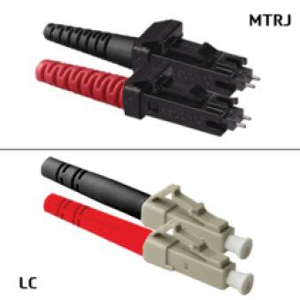Jarretière duplex multimode 50/125 OM2 MTRJ/LC 20m