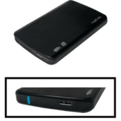 """Boîtier 2""""1/2 USB 3.1 Sata noir connecteur Micro B"""