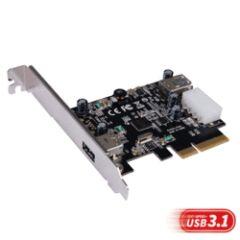 Contrôleur PCI Express USB 3.1 A 1 int. + 1 ext.