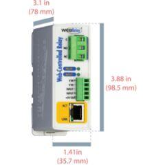 WebRelay 1S 12A + 1 In 4-26Vdc alim 9-28Vdc