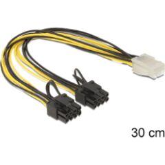 Adaptateur PCIe 6 points -> 2x 8 points 30cm