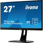 "Moniteur IPS 27"" 2560x1440 DVI HDMI DP ultra mince"