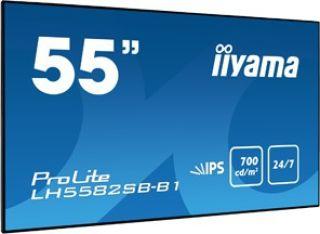 "Moniteur 55"" super slim DP/DVI/2xHDMI USB Média"