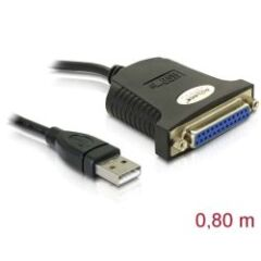 Adaptateur USB parallèle 1 port DB25 Femelle 0.8m