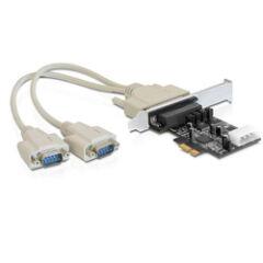Carte série PCI Express 2 ports RS232 Alim. POS