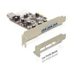 Carte PCI Express USB 3.0 3+1 ports Dual Profile