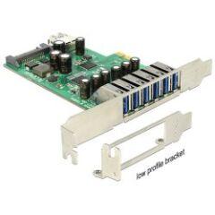Carte PCI Express USB 3.0 6+1 ports Dual Profile