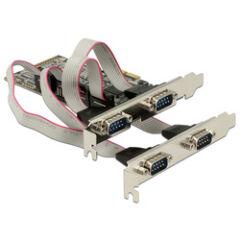 Carte PCI Express 4 ports RS232 DB9 dual profil