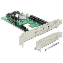 Carte PCI Express Sata 6Gbps 2 + 2 mSata int. DP