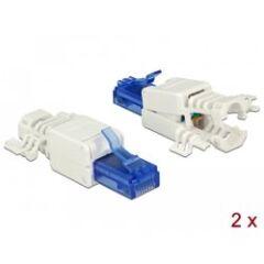 Connecteur réseau RJ45 Cat 6a UTP Toolfree (x2)