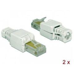 Connecteur réseau RJ45 Cat 5e UTP Toolfree (x2)