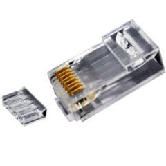 Sachet 10 connecteurs RJ45 U/UTP Cat 6 avec insert