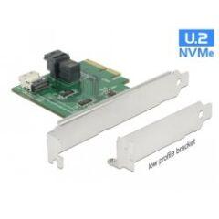 Carte PCIe U.2 NVMe SFF-8654 4i +SFF-8643 Dual Pr.