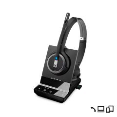 Casque sans fil binaural DECT PC/Mobile/Tel