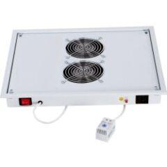 Chapeau de ventilation  2 ventil + thermostat gris