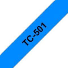 Ruban d'étiquettes TC501 Noir/Bleu